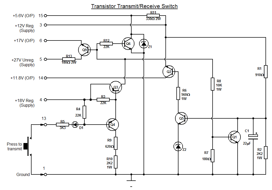 Transmit Receive Switch Diagram