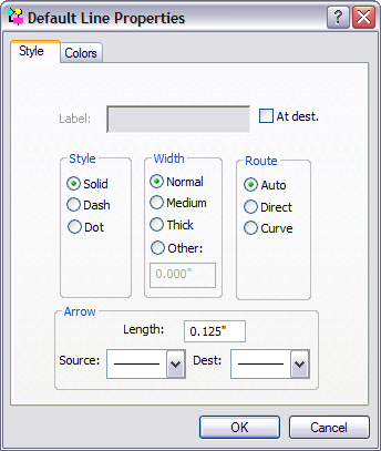 Line style dialog